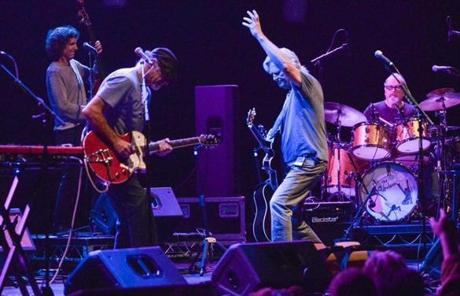 Jeff Bridges and The Abiders performed onstage at the Lebowski Fest in April in Los Angeles.